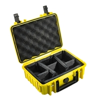 B&W International Type 1000 Outdoor Case with RPD Insert - Yellow
