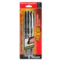 Pilot FriXion Ball Erasable Gel Pens, Fine Point, 3-Pack, Black Ink