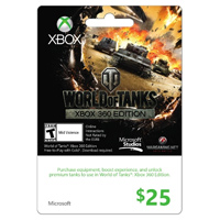 InComm Xbox Live World of Tanks 2013 $25