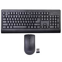 Bornd W521 Wireless Multimedia Keyboard & Optical Mouse Combo  - Black