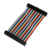 "QVS 8"" GPIO Ribbon Cable for Raspberry Pi A/B/Pi 2 (40 Pins)"