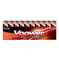 Vivitar Alkaline AA Batteries V-40AA-ALK 40 Pack