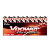 Vivitar 100-Pack of Vivitar Alkaline AAA Batteries V-HUN-AAA-ALK