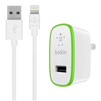 Belkin BOOST UP Charger for iPad/iPhone 5 with ChargeSync Cable - White