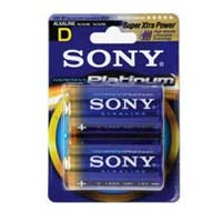 Sony Stamina Platinum Alkaline D Battery 2 Pack