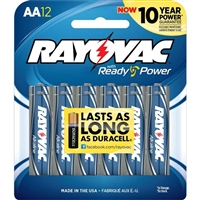 Rayovac AA Alkaline Batteries 12 Pack