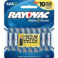 Rayovac Alkaline Carded AAA Batteries 12-Pack