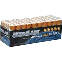 Ultralast AAA Alkaline Battery 40 Pack
