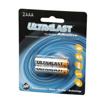 Ultralast AAA Alkaline Battery 2 Pack