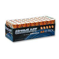 Ultralast AA Alkaline Battery - 40 Pack