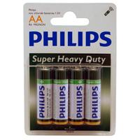 Philips Heavy Duty AA Zinc-Chloride Battery 4-Pack