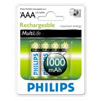 Philips Rechargeable AAA Battery 4 Pack