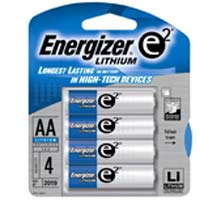 Energizer Lithium AA Battery 4 Pack