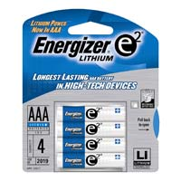 Energizer Lithium AAA Battery 4 Pack