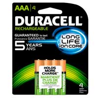 Duracell AAA NIMH Precharged Rechargeable 800mAh Battery 4 Pack