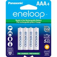Eneloop AAA NiMH 800mAh Pre-Charged Rechargeable Batteries 4-Pack