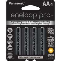 Eneloop AA NiMH 2500mAh Rechargeable XX Series Batteries 4-Pack