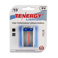 TenErgy 9V Lithium 1200mAh Battery 1 Pack