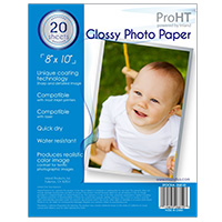 "Inland 8"" x 10"" Glossy Photo Paper 20-Sheets"