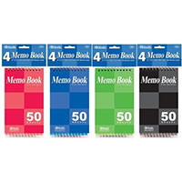 "Bazic Memo Book 3"" x 5"" Notepad 3-Pack"