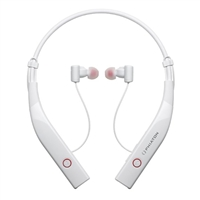 Phiaton BT 100 NC Wireless Active Noise Cancelling Neck Band Earphones w/ Mic - White