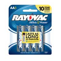 Rayovac Alkaline AA Batteries 8-Pack