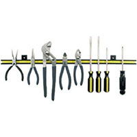 Master Magnetics Magnetic Tool Holder 24 inch - holds up to 20lbs, Black with Yellow Stripe
