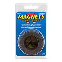 Master Magnetics Flexible Magnetic Tape with Adhesive 1 x 30 inch
