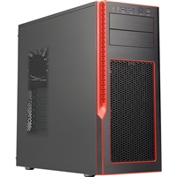 Supermicro S5 Special Edition Mid-Tower Gaming Chassis - Black/Red
