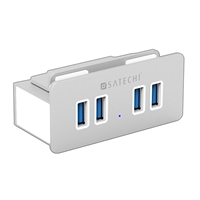 Satechi Aluminum Clamp Hub 4 Port USB 3.0 Compatible with iMacs released 2012 or Later