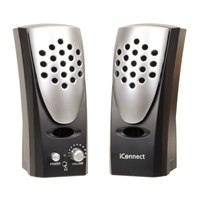 IPSG iConnect Sound Wave PC Speaker System - Gray