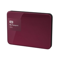 "WD My Passport Ultra 3TB 5,400 RPM SuperSpeed USB 3 2.5"" External Hard Drive - Wild Berry"