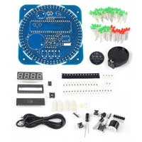 SainSmart Rotating LED Electronic Digital Clock Kit