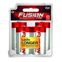 Rayovac Fusion D Cell - 4 Pack