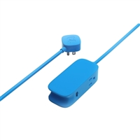 BlueLounge Design Portiko 6 ft. Extension Cord w/ USB Charging - Blue
