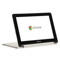 "ASUS C100 Convertible 10.1"" Chromebook Flip - Silver"