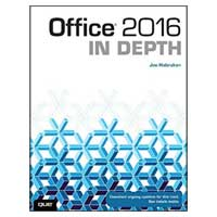 Pearson/Macmillan Books Office 2016 In Depth, 1st Edition