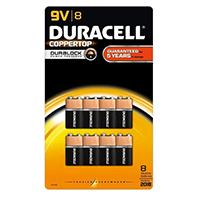 Duracell CopperTop All-Purpose 9V Alkaline Batteries - 8 Pack