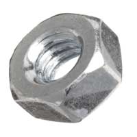 M3-0.5 Steel Nuts - 100 Pieces
