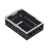 Adafruit Industries Raspberry Pi B/2 Case - Smoke Base w/ Clear Top