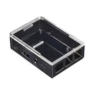 Adafruit Industries Raspberry Pi B/2 Case - Smoke Base w/ Clear Top