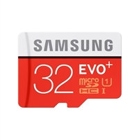 Samsung 32GB EVO+ microSDHC Class 10 / UHS-1 Flash Memory Card