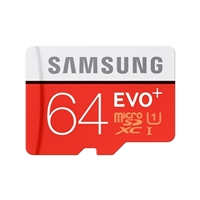 Samsung 64GB Class 10 EVO Plus Secure Digital Micro SD Memory Card