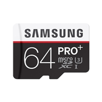 Samsung 64GB Pro Plus microSDXC Class 10 / UHS-3 Flash Memory Card
