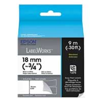 "Epson LabelWorks Standard LC Tape Cartridge 3/4"" Black on White"