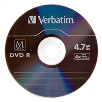 Verbatim M-Disc DVDR 4x 4.7GB/120 Minute Disc with Jewel Cases - 5 Pack