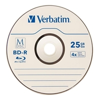 Verbatim M-Disc BD-R 4x 25GB Disc with Jewel Cases - 5 Pack