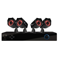 Night Owl 8 Channel Digital Video Recorder DVR and 4 Indoor/Outdoor Refurbished