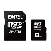 Emtec International 16GB Micro SD Card with Adapter