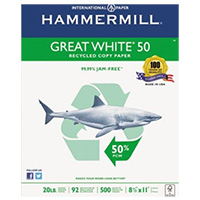 International Paper Great White 50 Recycled Copy Paper